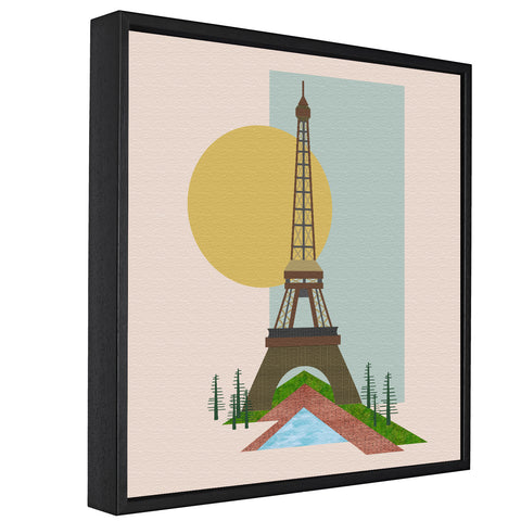 Landmarks - Eiffel Tower, Paris -  Float Framed Canvas - HusLiving