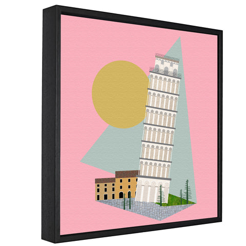 Landmarks - Leaning Tower Of Pisa, Pisa -  Float Framed Canvas - HusLiving