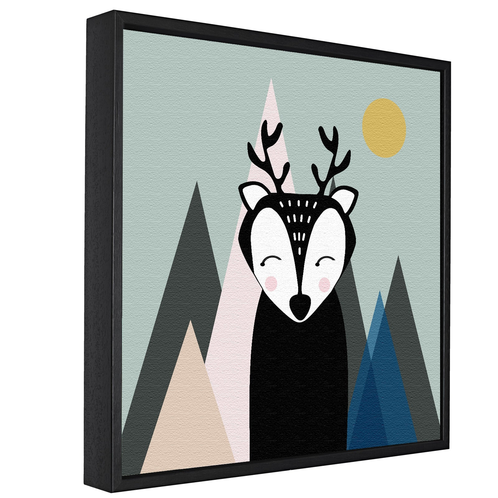 Nordic Deer -  Float Framed Canvas - HusLiving