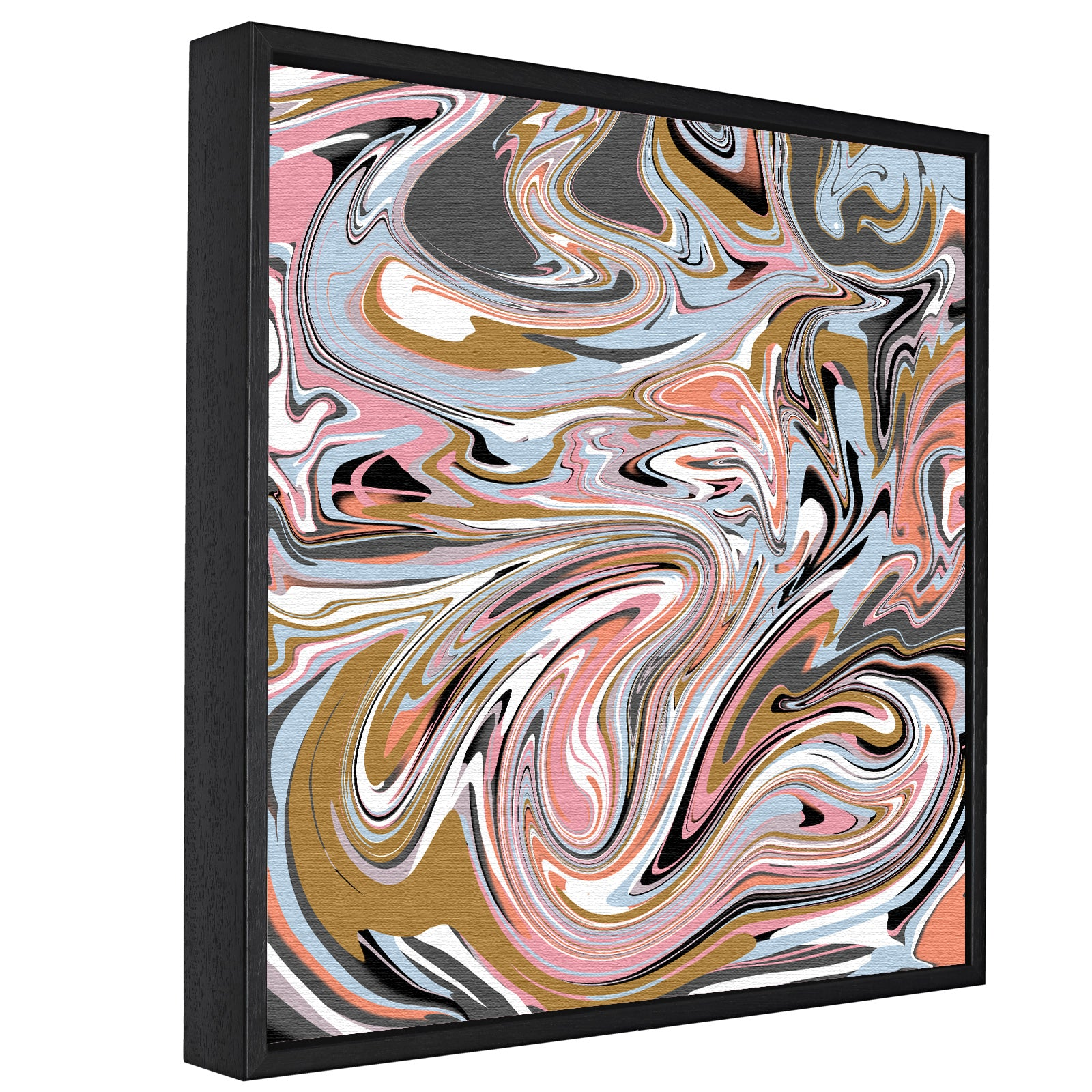 Paint Swirls Pt.1 -  Float Framed Canvas - HusLiving