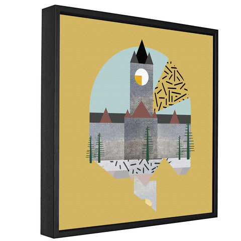 Landmarks - Town Hall, Manchester  - Float Framed Canvas - HusLiving
