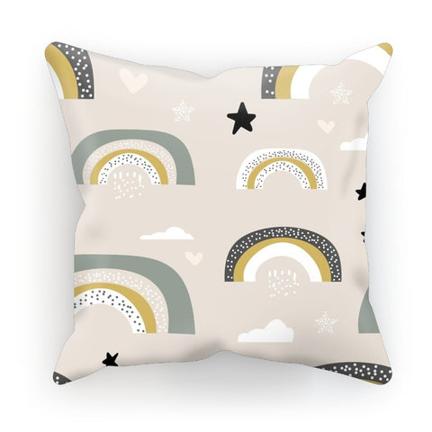 Rainbows And Clouds Cushion - HusLiving