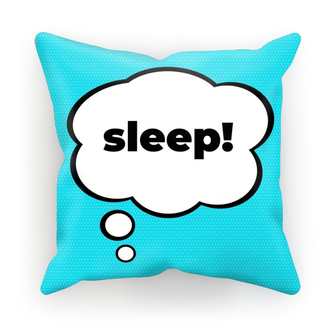 "Pop Art ""Sleep!"" Cushion - HusLiving"