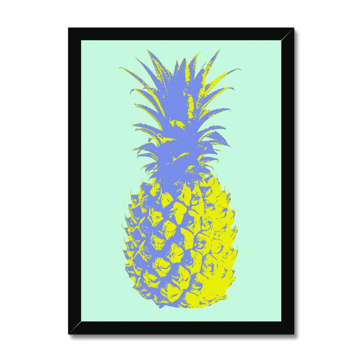Neon Yellow Pineapple  Framed Print - HusLiving