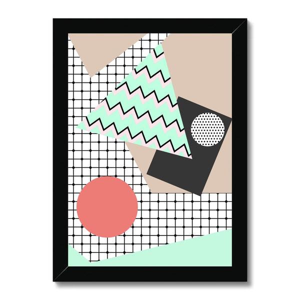 Retro Shapes Framed Print - HusLiving