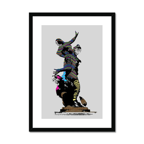 Greek Abstract Statue Framed & Mounted Print - HusLiving