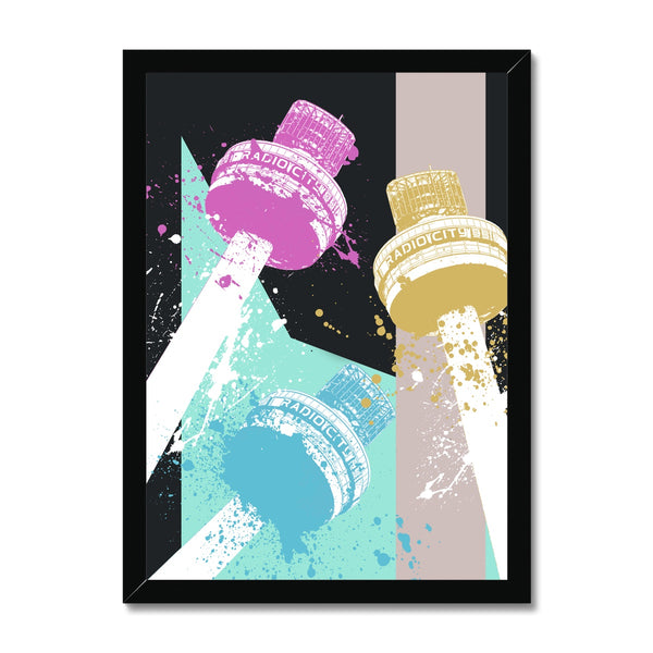 Radio City Tower Liverpool Abstract Framed Print - HusLiving