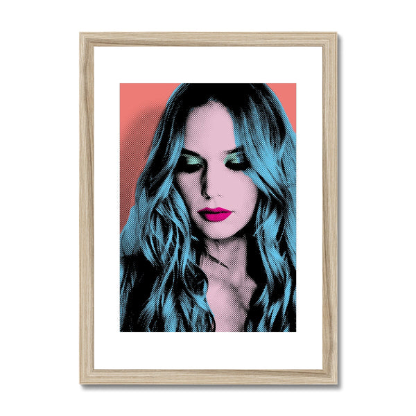 Pop Art Woman Portrait  Framed & Mounted Print - HusLiving