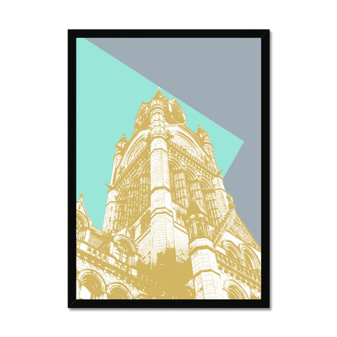 Manchester Town Hall Abstract Framed Print - HusLiving