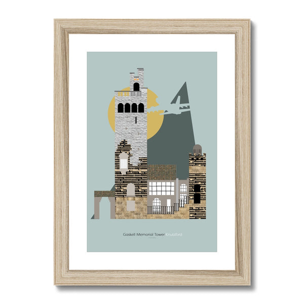 Landmarks - Gaskell Memorial, Knutsford Framed & Mounted Print - HusLiving
