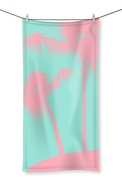 Pink Palm Towel - HusLiving