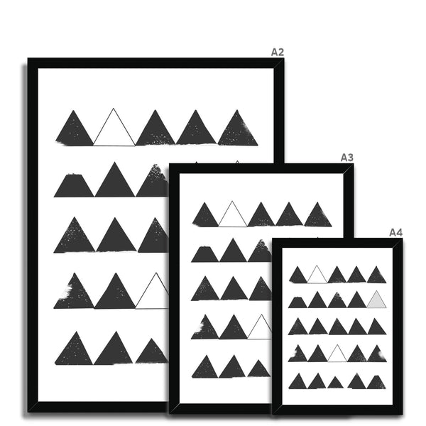 Scandinavian Triangles Framed Print - HusLiving