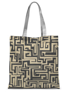 Paper Maze Sublimation Tote Bag - HusLiving