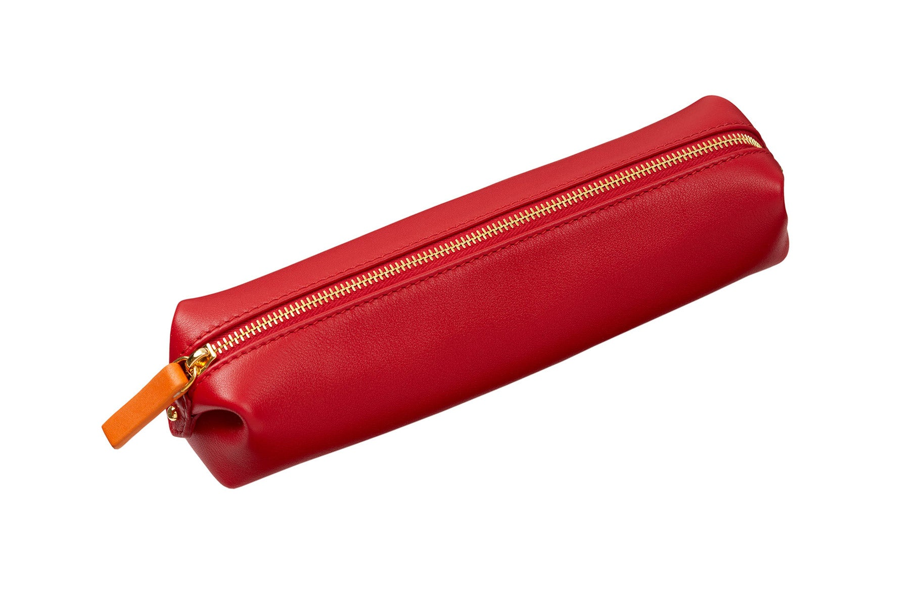 STOW Red Leather Pencil Case