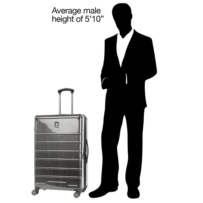 "Rollmaster™ Lite 28"" Expandable Large Checked Hardside Spinner Luggage"