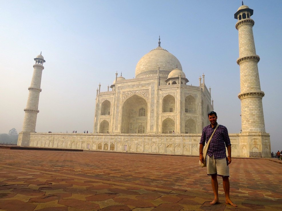 View of the Taj Mahal from the side