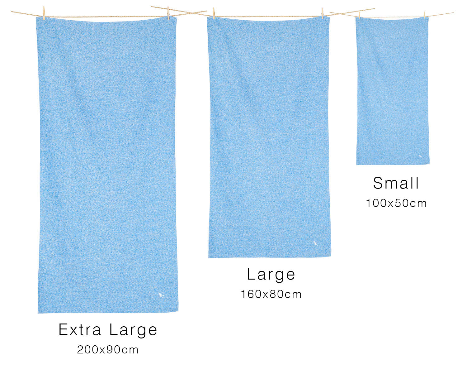 Sizes and dimensions of Dock & Bay towels