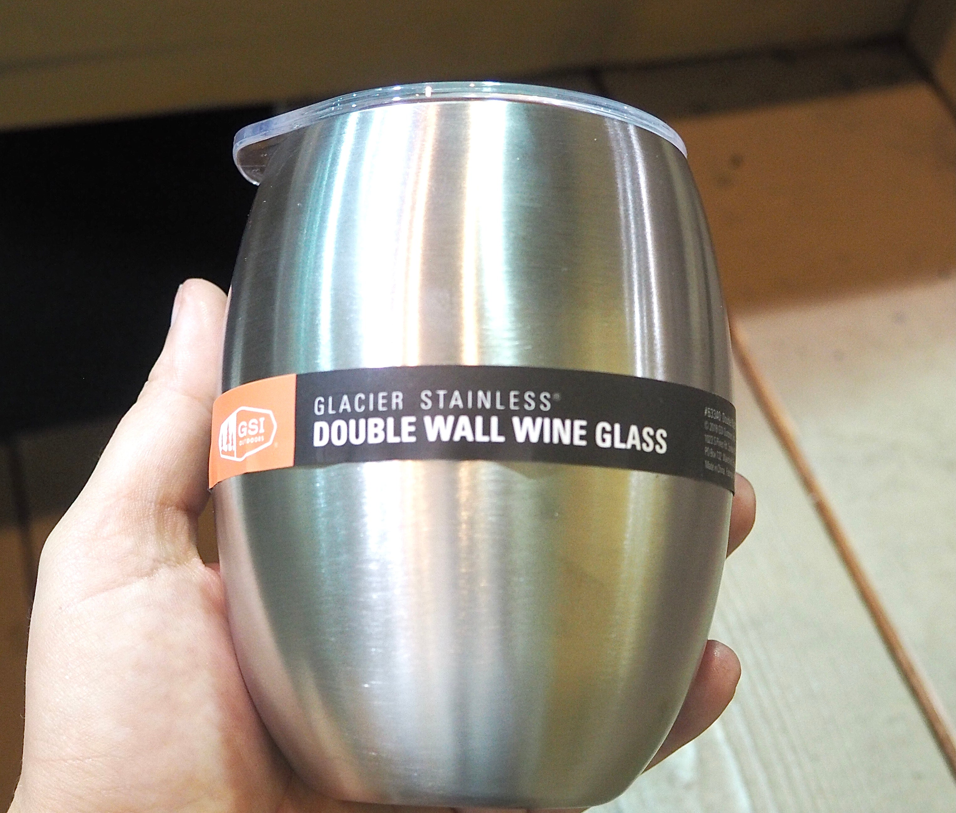 GSI Outdoors Glacier Stainless Steel Double Wall Wine Glass