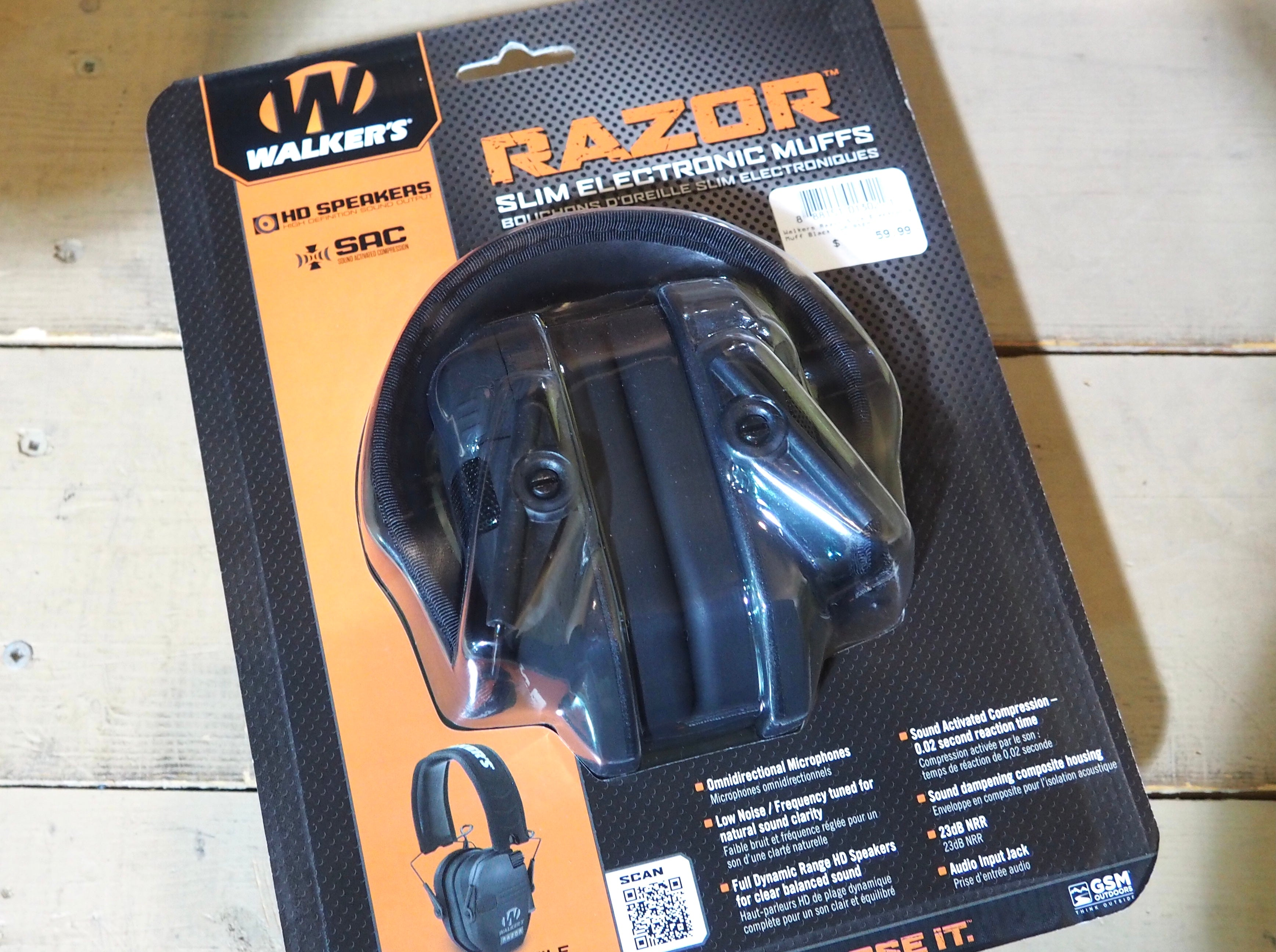Walker's Razor Slim Electronic Muffs