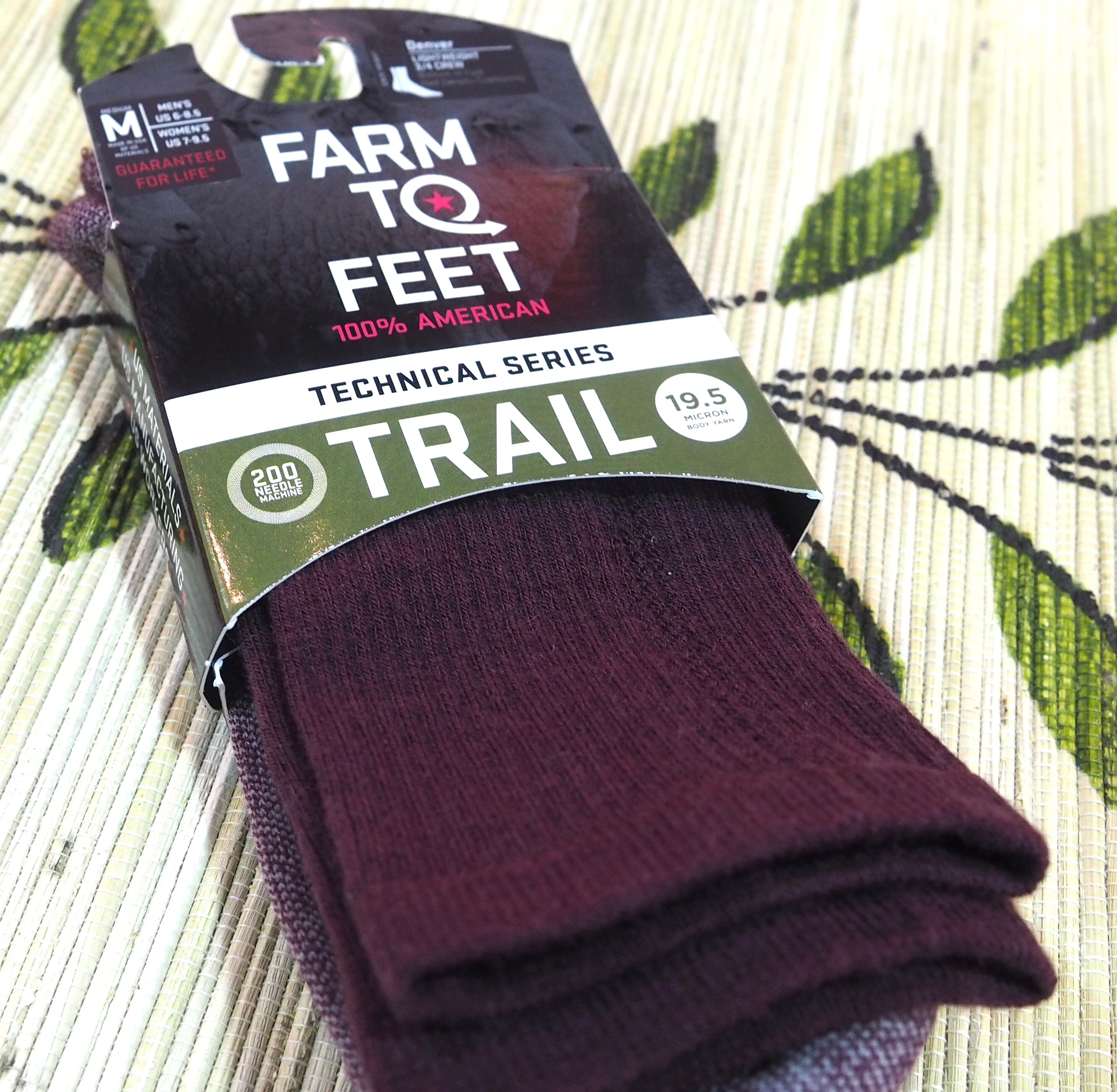 Farm to Feet 3/4 Crew Plum Socks