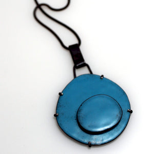Organica Enamel Necklace No.03 _ Sky Blue