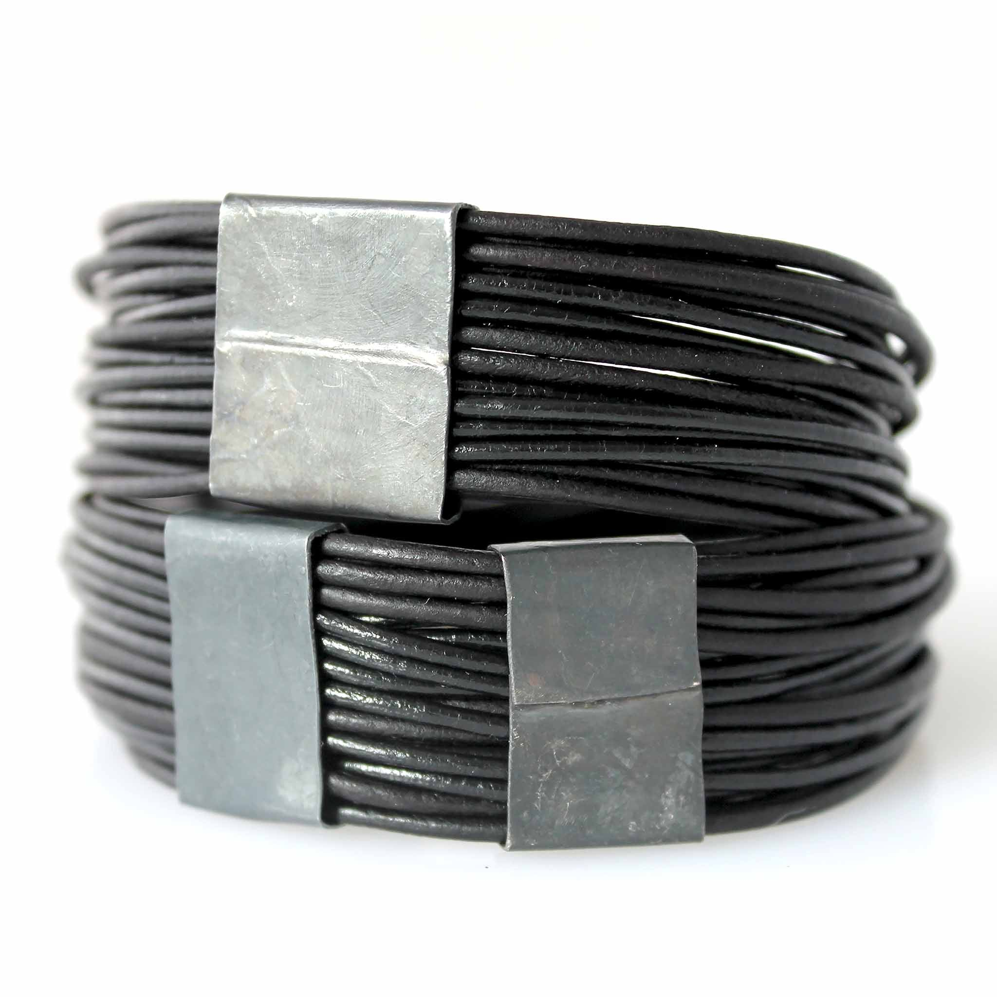 Organica Leather Wrap Bracelet No.03 _ Black