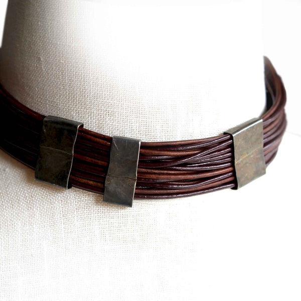 Organica Leather Wrap Bracelet No.03 _ Chocolate