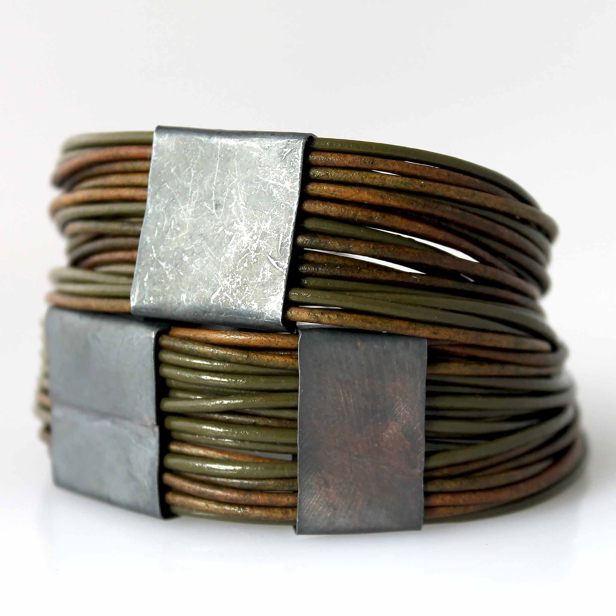Organica Leather Wrap Bracelet No.03 _ Forest