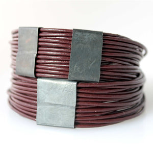 Organica Leather Wrap Bracelet No.03 _ Merlot