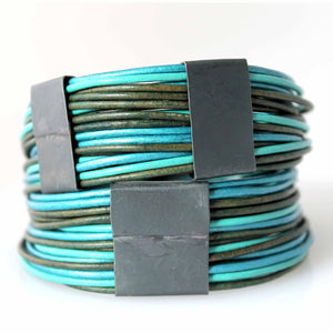 Organica Leather Wrap Bracelet No.03 _ Mermaid
