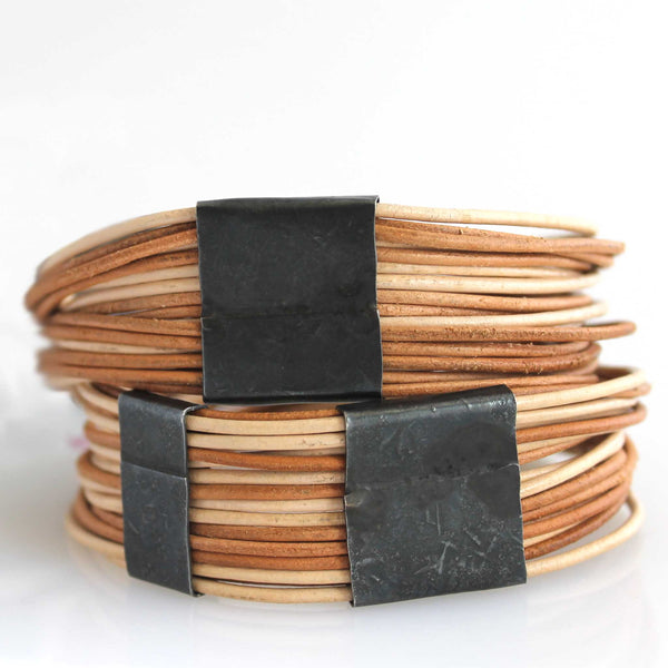 Organica Leather Wrap Bracelet No.03 _ Natural