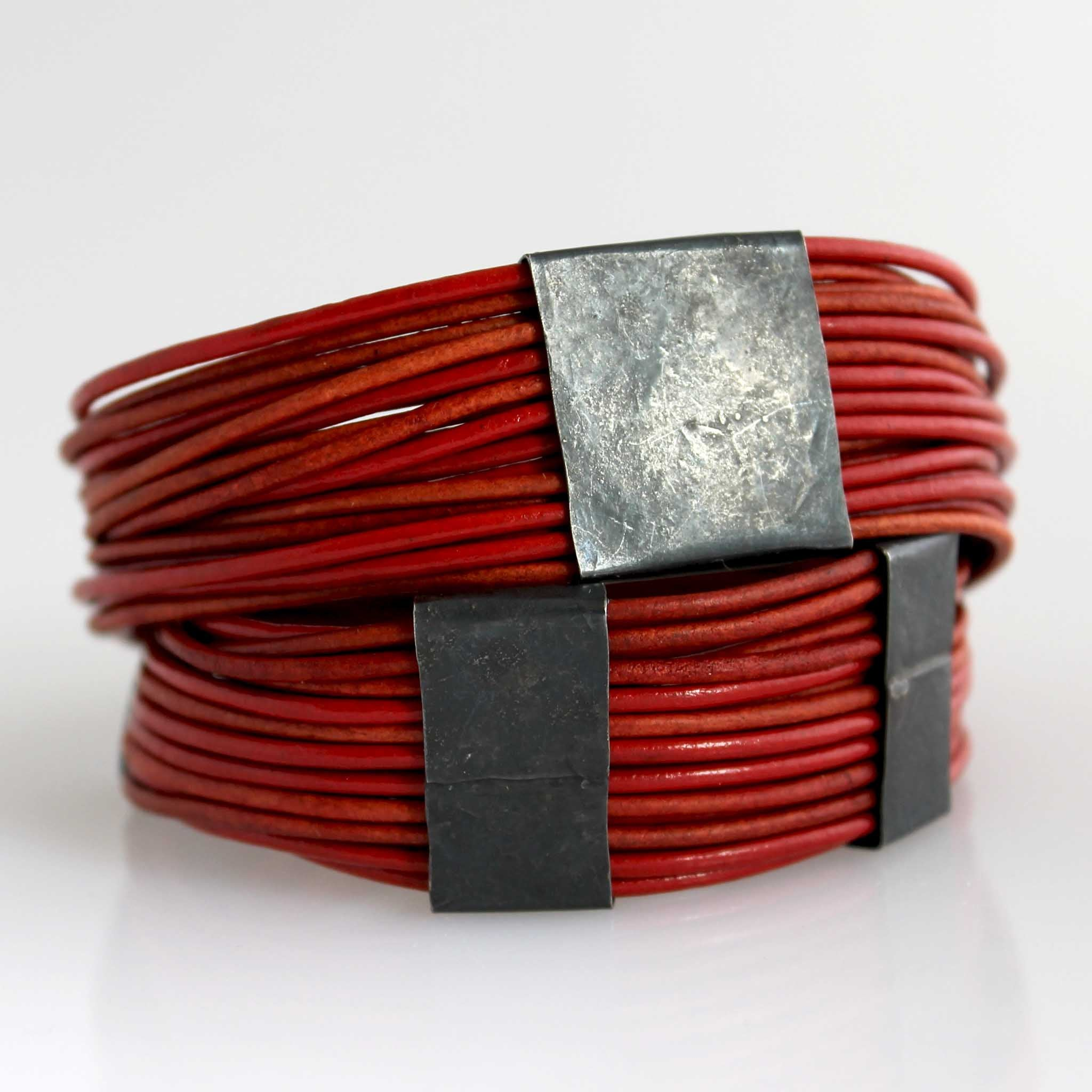 Organica Leather Wrap Bracelet No.03 _ Perfect Red