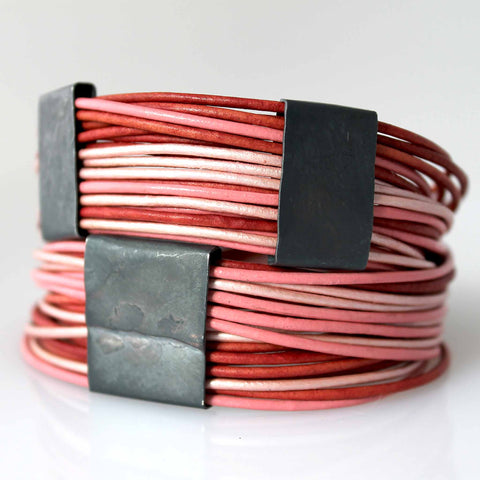 Organica Leather Wrap Bracelet No.03 _ Swirl