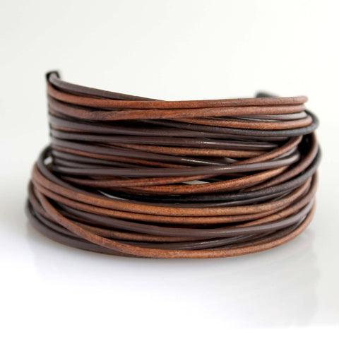 Organica Leather Wrap Bracelet No.07 _ Mocha