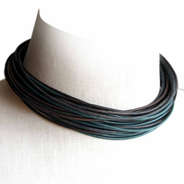 Organica Leather Wrap Bracelet No.07 _ Pacific Blue
