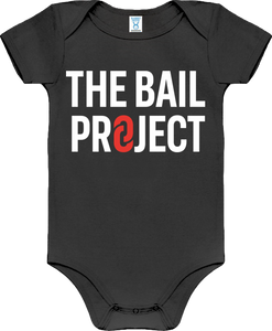 The Bail Project Stacked Logo Onesie