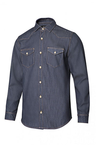 Camicia denim stretch da uomo