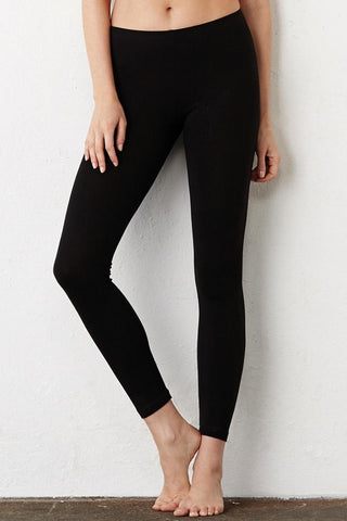 Leggings neri in Cotone Jersey stretch