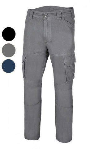 Pantaloni Multitasche Cotone Stretch