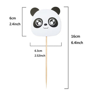 Cute Panda Foil Balloon Animal Theme Party Supplies Kids Birthday Disposable Tableware Set Balloon Banner Straws Decorations