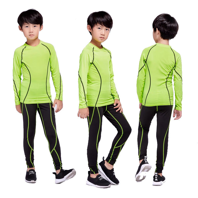 Children rashgard kit 2 piece tracksuit Children's jogging training clothes compression Children's thermal underwear base layer