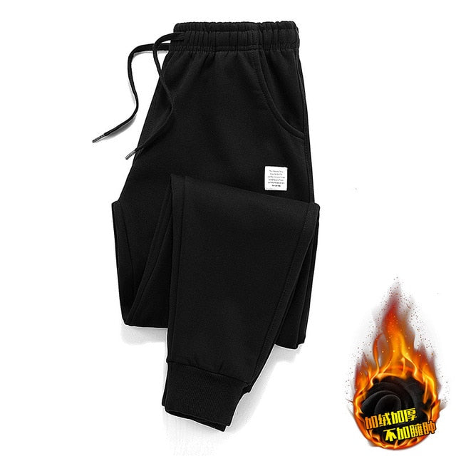 Fleece Jogger Pants Cotton Trousers