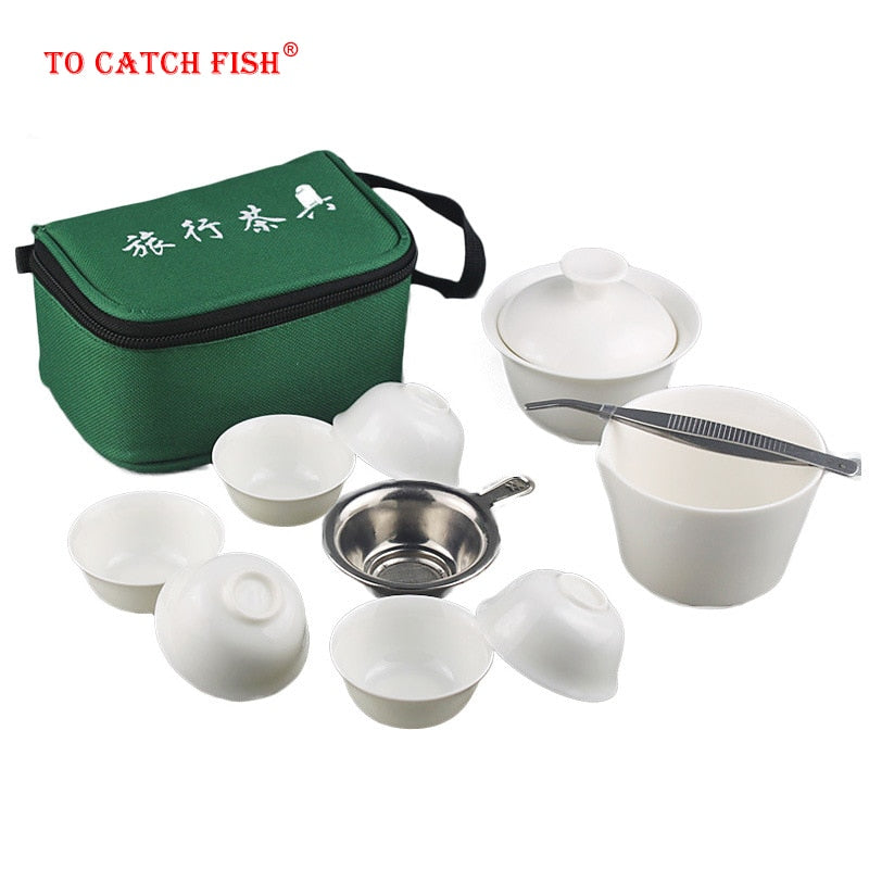 11pcs Set Portable  Tea Set,Porcelain