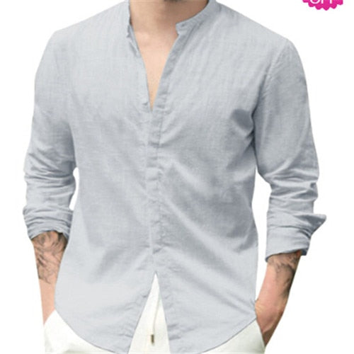 Long Sleeve Solid V-Neck