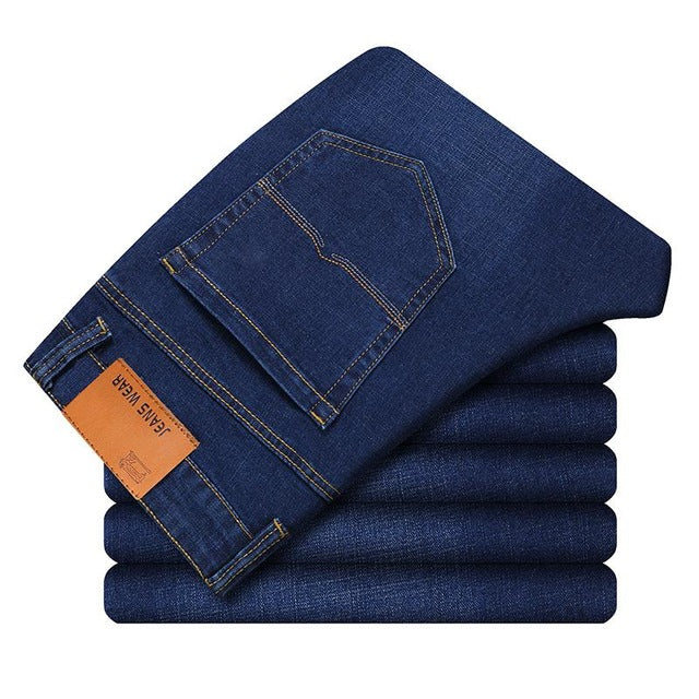 Fashion Jeans Business Casual Stretch Slim
