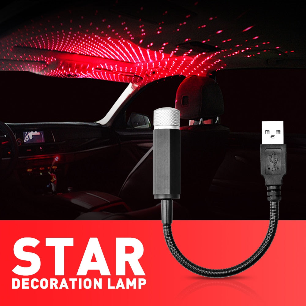 Car USB LED Starlight Starry Sky Star Light Projector