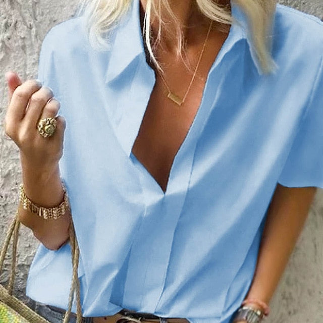 2020 Spring Women Leisure Blouse Tops Women chain Print work office Blouse Shirt Lady Stylish Long Sleeve Blouses femmes 5XL