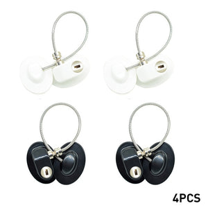 4Pcs/Set Window Locks Children Protection Lock Stainless Steel