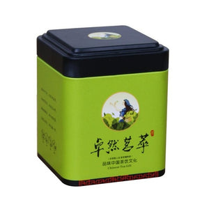 Mini Tin Storage Box Small Coffee Tea Caddy Storage Jar Square Sealed Tea Leaves Iron Packing Box Chinese Style Container Cans