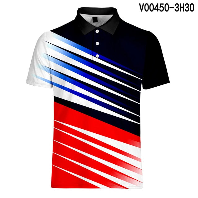 Tennis Polo shirts Men Sport Quick Drying